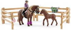 Schleich Jeździec z kucykami islandzkimi 42363
