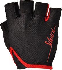 Silvini ženske kolesarske rokavice Vara WA1012, črne/rdeče