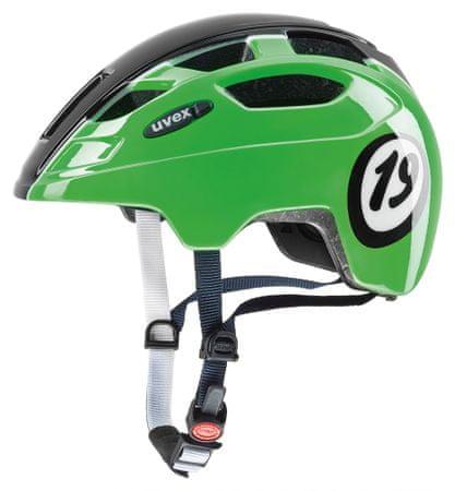 Uvex kolesarska čelada Finale Junior Led 1926 (2017), zelena/črna