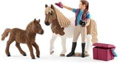 Schleich konjarka s šetlanskimi poniji