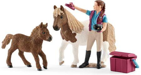 Schleich Ošetrovateľka s shetlandskými poníkmi 42362