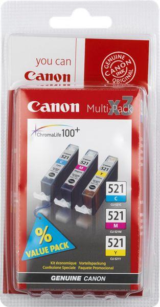 Canon CLI-521 C/M/Y Pack (2934B010), barevná