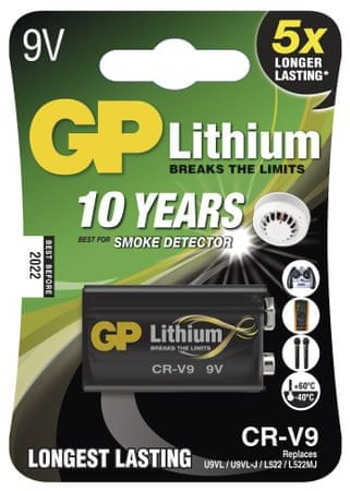 GP Baterija CR-V9, 1 kos