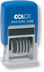 Razítko Mini-Folio S 126 číslovačka samobarvicí