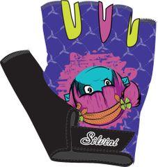 Silvini otroške kolesarske rokavice Punta CA848, modre/roza