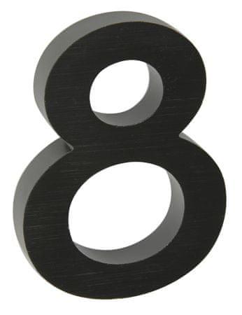 """Richter Czech numer domu """"8"""" 3D czarny"""