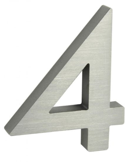 """Richter Czech numer domu """"4"""" 3D srebrny"""
