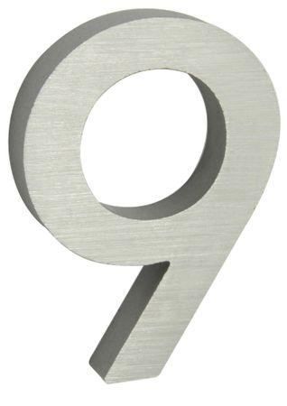 """Richter Czech numer domu """"9"""" 3D srebrny"""