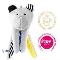 Whisbear SOFT Szumiący Miś z funkcją CRYsensor, cytryna