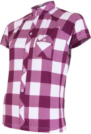 Sensor ženska kolesarska majica Cyklo Square, vijolična