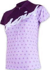 Sensor ženska kolesarska majica Cyklo Stars, vijolična