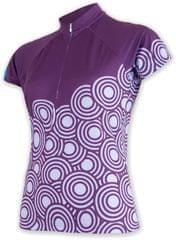Sensor ženska kolesarska majica Circle, vijolična