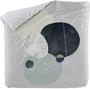 1 - Blanc bombažna prevleka za odejo Rocks, bela s potiskom