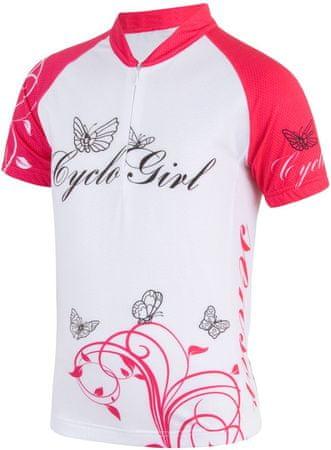 Sensor Cyklo Cyclogirl dětský Dres kr.ruk. bílá