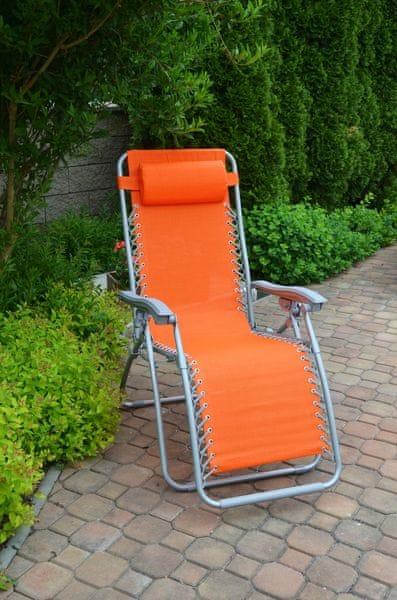 Rojaplast Relax 2320 křeslo oranžové