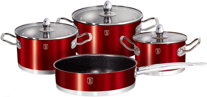 Berlingerhaus Metallic Red Passion Collection Sada nádobí BH-1318 7 ks
