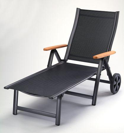 Rojaplast ležalnik Comfort, antracitno-črn