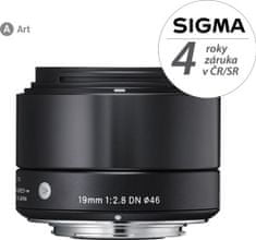 Sigma 19/2,8 DN ART Black pro Olympus micro 4/3