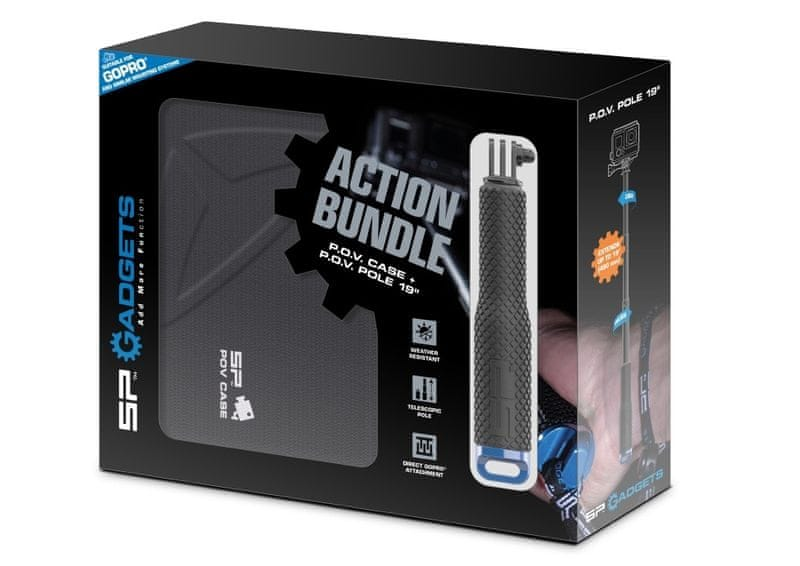 SP GADGETS Set teleskopické tyče a obalu SP ACTION BUNDLE
