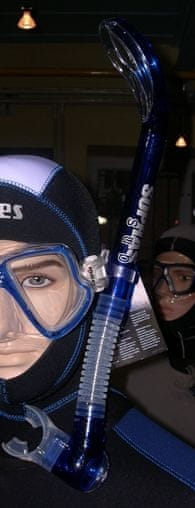 SOPRASSUB Šnorchl EGO s výdechovým ventilem, Sopras sub, modrá