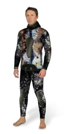 Oblek dvoudílný neoprénový na freediving Mix 3D 5 mm, Omer, 2