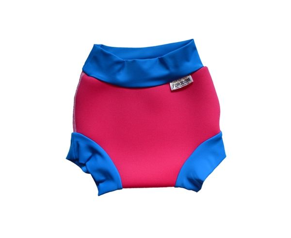 DENA Plenka na plavání NEOPREN, růžovo-modrá, modro-zelená, L