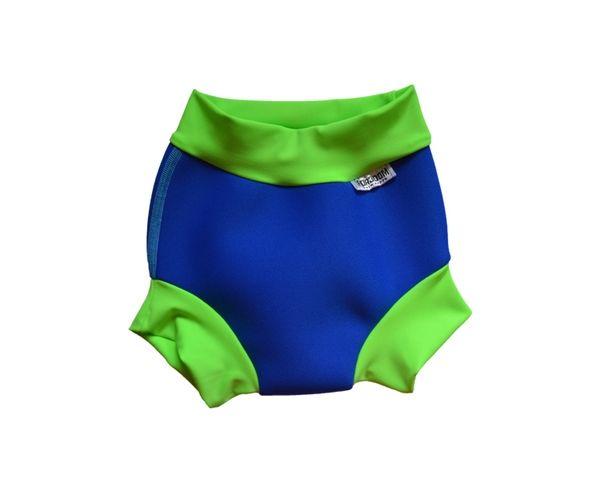 DENA Plenka na plavání NEOPREN, modro-zelená, růžovo-modrá, XS