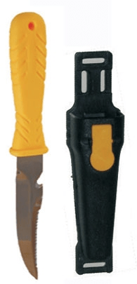 SOPRASSUB Nůž SQUALO 11, Sopras sub, žlutý