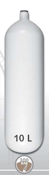 EUROCYLINDER Lahev ocelová 10 L průměr 171 mm 300 Bar