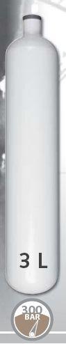 EUROCYLINDER Lahev ocelová 3 L průměr 100 mm 300 Bar