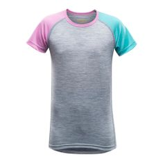 Devold Devold Breeze Junior T-Shirt Peony Strip