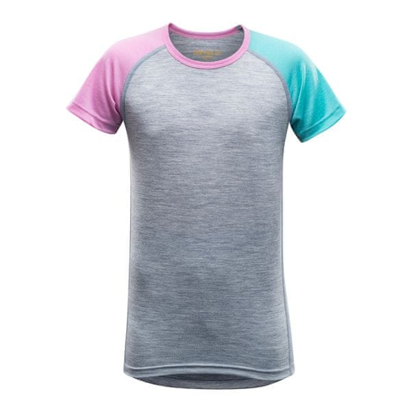 Devold Breeze Junior T-Shirt Peony Stripes 14