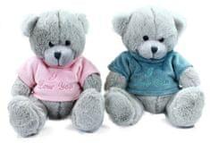 Rappa Plyšový medveď sediaci v oblečku, 20 cm