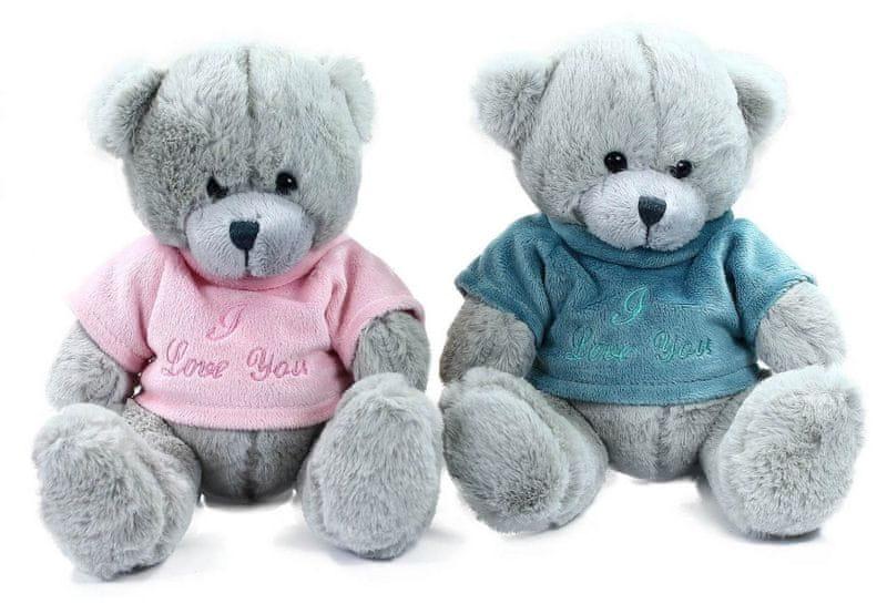 Rappa Plyšový medvěd sedící v oblečku, 20 cm