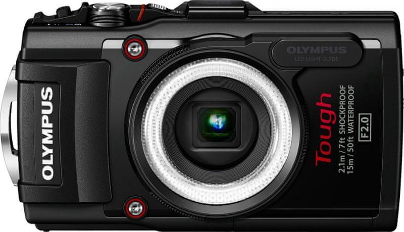 Olympus Tough TG-4 + LG-1 Led Light Guide Black