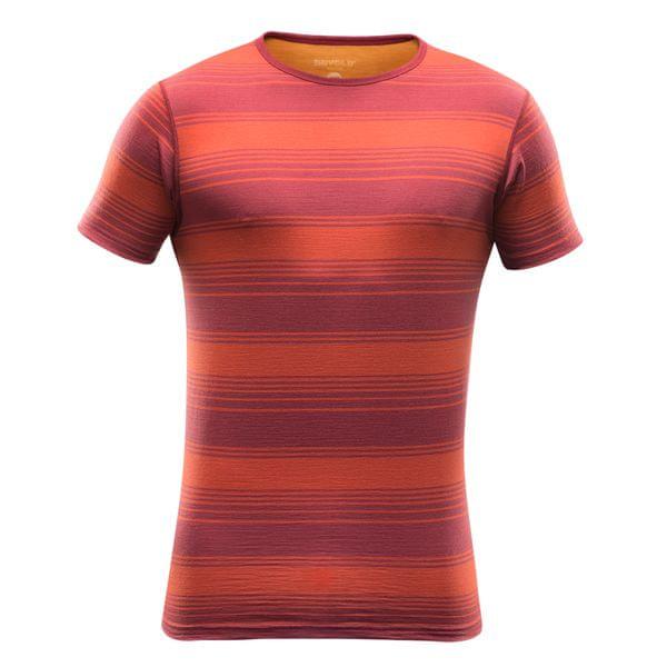 Devold Breeze T-Shirt Syrah Stripe XXL