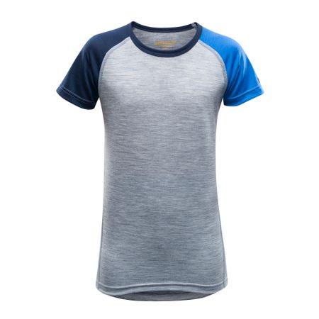 Devold otroška majica Breeze, siva, 12