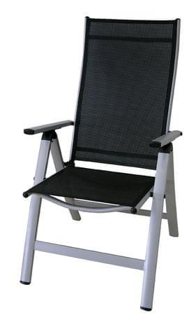 Rojaplast stol London, srebrno-črn