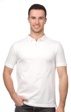 s.Oliver férfi galléros póló L fehér