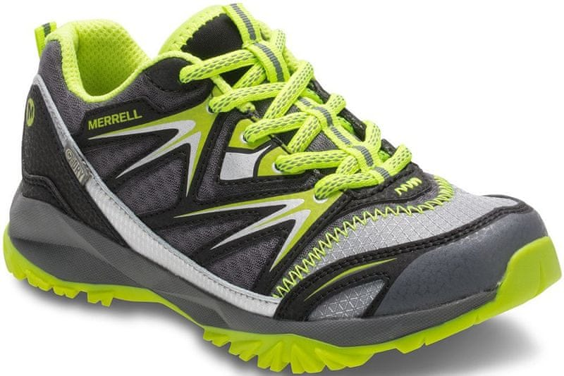 Merrell Capra Bolt Low Lace WP K grey/citron C12 (31)