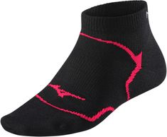 Mizuno tekaške nogavice DL Inner Grip Mid, črne/roza