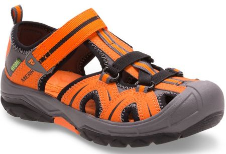 Merrell otroški sandali Hydro Hiker, oranžni/sivi, 34