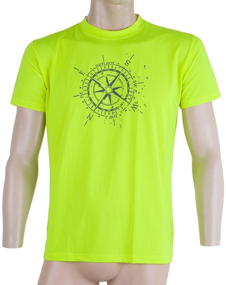 Sensor Coolmax Fresh PT Kompas pánské triko kr.ruk. žlutá reflex XXL
