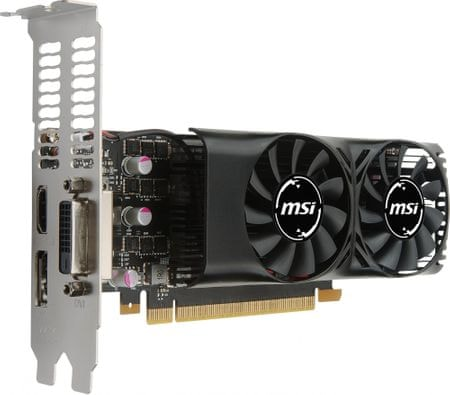MSI grafična kartica GeForce GTX 1050 2GT LP, 2 GB GDDR5