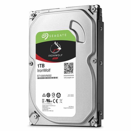 "Seagate trdi disk IronWolf 1 TB, 8,89 cm (3,5""), SATA3, 64 MB, 5900 (ST1000VN002)"
