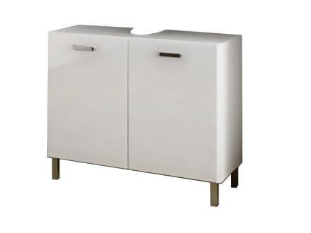 SINDY 301, skříňka pod umyvadlo, alpská bílá/bílý lesk