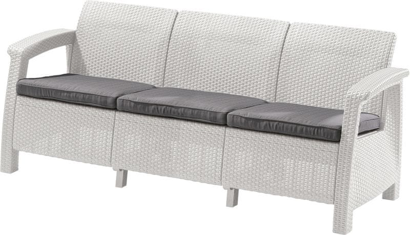 Allibert CORFU LOVE SEAT MAX bílá (223205)