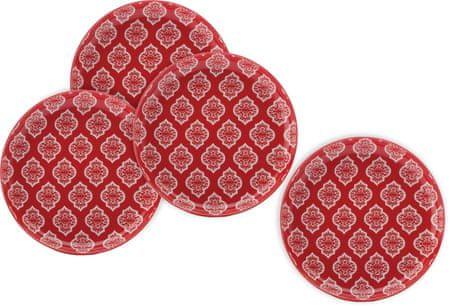 Maxwell & Williams Dezertný tanier Alcazar Red Circ, 4 ks
