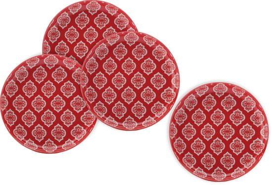 Maxwell & Williams desertni tanjur Alcazar Red Circ, 18,5 cm, 4 komada