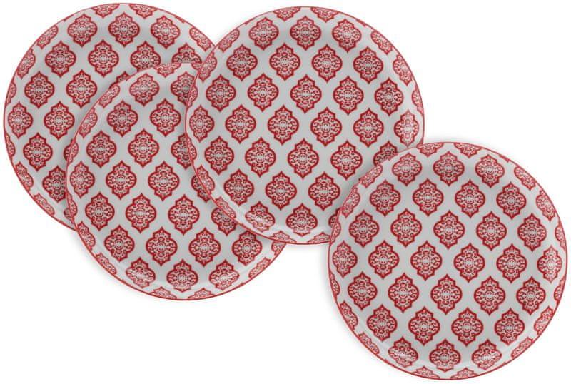 Maxwell & Williams Jídelní talíř Alcazar Red Circ, 4 ks